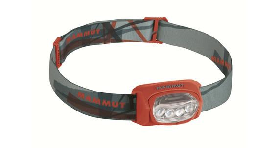 Mammut T-Trail  hoofdlamp grijs/rood